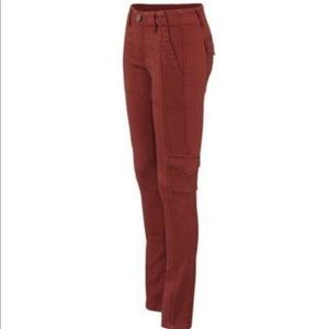 CAbi Skinny Red Cargo Pants